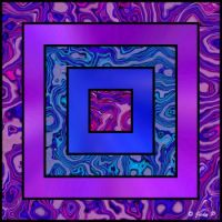 Blue, Pink and Purple Squares (L)
