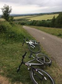 Cycling to the top of the hill