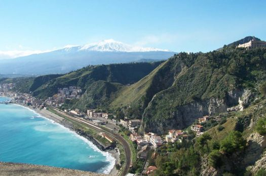 View from Taormini, Sicily