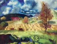 George Wesley Bellows--Cornfield and Harvest, 1921