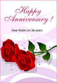 Happy anniversary Robin