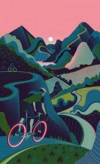 Bike Print Pink