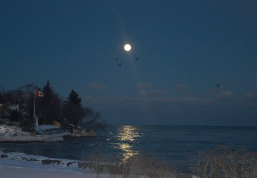 Sioux Lookout Moon Rise