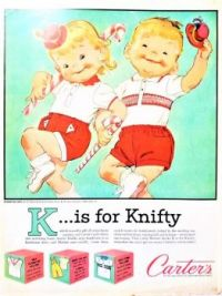 Themes Vintage ads - Carters Kids Clothing