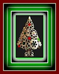 Merry Christmas Tree Broach and Thank You Letter