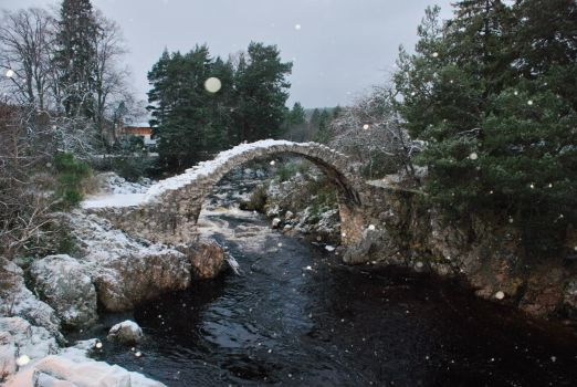 Coffin bridge Carrbridge Scottish Highlands......in the snow.