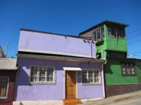purple/green houses