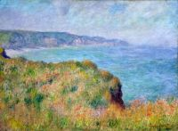 Claude Monet - On the Cliff at Pourville, 1882 (Apr17P16)