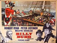 BILLY BUDD  1962 MOVIE POSTER  TERENCE STAMP, ROBERT RYAN,PETER USTINOV