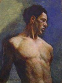 Robert Mcintosh  1936 Nude male in blue