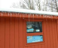 icicles on the shed