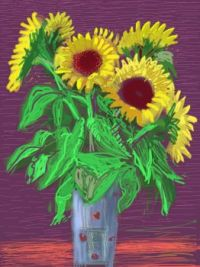 hockney sunflowers