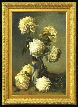 CHRYSANTHEMUMS by Marie Madeleine Seebold Molinary