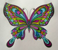 Butterfly 2 - coloring book