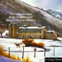 The cold of winter.....