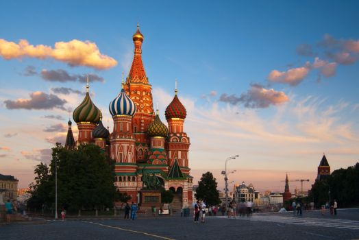 Evening falls on the Red Square, Moscow