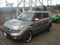 My 2010 Kia Soul sport on the Royal Gorge suspension bridge