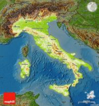 Another Physical Map of Italy