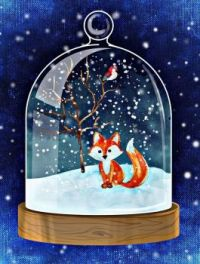 Winter snow globe