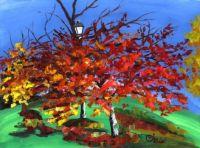 Crabapple Tree and Lightpost