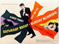 SATURDAY NIGHT AND SUNDAY MORNING - 1960 MOVIE POSTER  ALBERT FINNEY,SHIRLEY ANNE FIELD