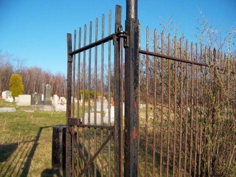 cemetary gate, Centralia, PA