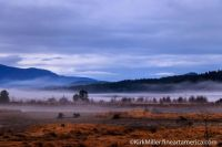 Fog rising on Pack River Flats
