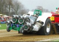 Tractor with 4 JET ENGINES
