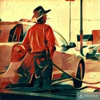 Painterly enhanced Photo by Prisma