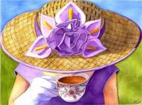 tea in purple
