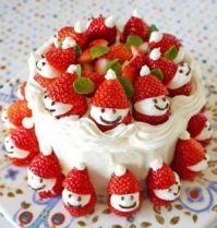 Strawberry Snowmen Cake