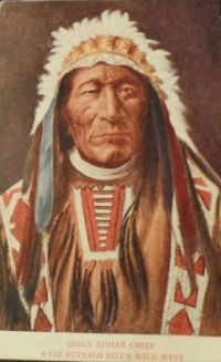 Sioux Chief with Buffalo Bill's Wild West