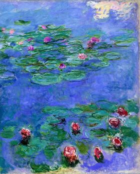 Monet - Water lilies Red, 1914-1919