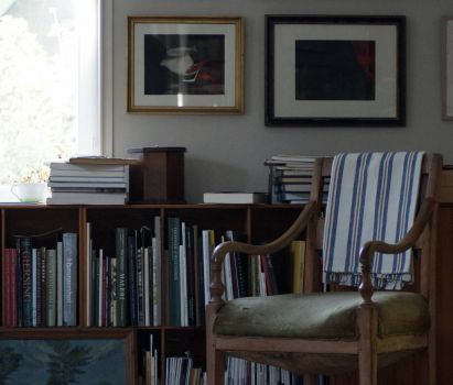interior with books