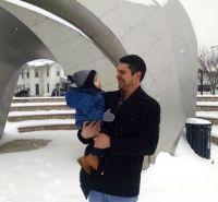 My grandson Dan and Calvin (almost 1)
