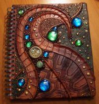 Handmade turtle shell journal cover