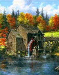 The Old Watermill by Rudi Reichardt