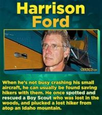 14 Famous Actors Who Have Straight-Up Saved A Life - Harrison Ford