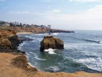 Sunset Cliffs - Ross Rock With Peace Symbol