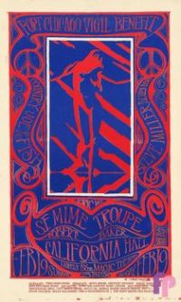 Vintage poster California Hall, San Francisco 1967