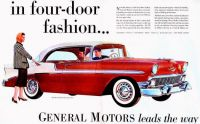 1956 Chevrolet Ad -  In Four-Door Fashion!
