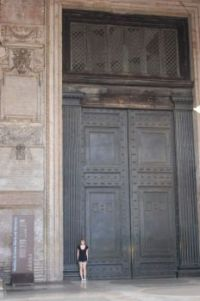 The doors into the Pantheon, Rome. 2nd largest doors in Italy