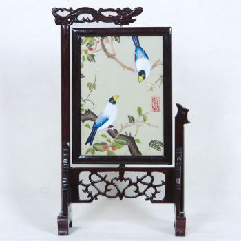 Chinese embroidery & stand