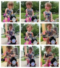 Maddie On A Motorcycle!!  (Video)