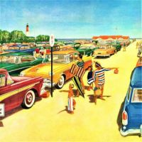Themes Vintage illustrations/pictures - Beach Parking