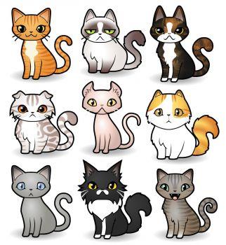 Cats via Catoonizer (high)