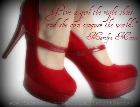 the right shoes ...