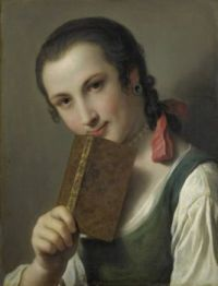 Pietro  Rotari A Young Woman with a Book 1756-1762