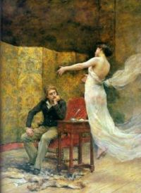 """""""""""Heinrich Heine and the Muse of Poetry"""", 1894 by Georges Moreau de Tours (France, 1848–1901)"""""""