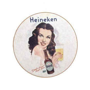 Heineken beer coaster